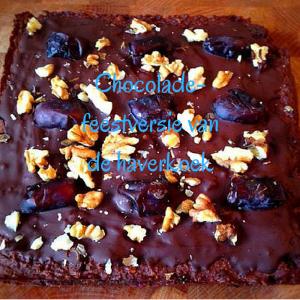 Chocolade-feestversie van de haverkoek