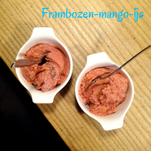 Frambozen-mango-ijs