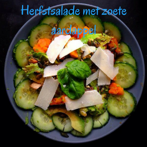 Herfstsalade met zoete aardappel