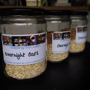 Probeerpot overnight oats